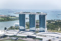 Singapore Marina Bay Aerial View Royalty Free Stock Photo