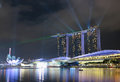 Singapore Marina Bay Sands Hotel Stock Photography