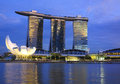 Singapore Marina Bay Sands Hotel Royalty Free Stock Images