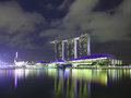 Singapore marina bay sands hotel landmark Royalty Free Stock Photo