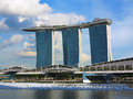 Singapore marina bay sands hotel landmark Royalty Free Stock Photos