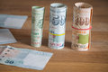 Singapore money / dollars Royalty Free Stock Photo