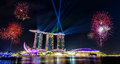 Singapore National Day ,Beautiful fireworks Royalty Free Stock Photo