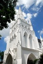 Singapore: Neogotische St. Andrew Kathedraal Stock Afbeelding