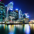 Singapore at night city skyline Stock Images