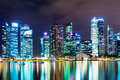 Singapore at night city skyline Royalty Free Stock Image