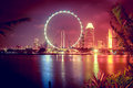 Singapore at night Royalty Free Stock Photo