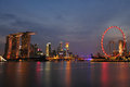Singapore Night Scenery Royalty Free Stock Image