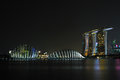 Singapore Night Scenery Stock Photography