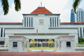 Singapore parliament building Royalty Free Stock Photo
