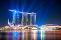 Singapore republic of singapore marina bay sands resort at night it is billed as the world s most expensive standalone casino Stock Photo