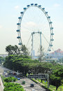 Singapore rerries wheel aerial view of flyer the largest ferris in the world Stock Images