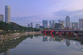 Singapore River, Morning Landscape Royalty Free Stock Photography