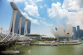 Singapore's modern buildings in city centre Royalty Free Stock Photo