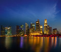 Singapore skyline in evening Royalty Free Stock Photography