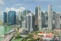 Singapore skyline singapore s business district Stock Photos