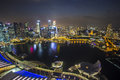 Singapore skyline with topview twilight Stock Photography