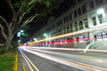 Singapore traffic on road Royalty Free Stock Photography