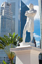 Singapour. Statue de monsieur Raffles Photos stock