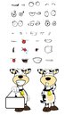 Singboard cow cartoon expressions set in vector format very easy to edit Royalty Free Stock Photography