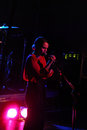 Singer anna calvi live at Viper theatre, Florence Stock Photography