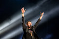 The singer of Kasabian (rock band) performs at FIB Festival Royalty Free Stock Photo