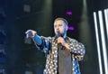 Singer Monatik performs live at Atlas Weekend in Kiev, Ukraine.