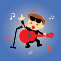 Singer star cartoon style Royalty Free Stock Image