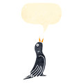 Singing black bird cartoon Royalty Free Stock Photos