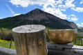 Singing bowl in colorado mountains Stock Image