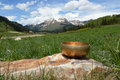Singing bowl in colorado mountains Stock Images