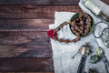 Singing bowl, rosary prayer drum and other Tibetan ritual object Royalty Free Stock Photo
