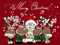 Singing christmas Royalty Free Stock Images