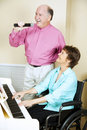 Singing Couple - Disabled Stock Photos