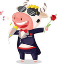 Singing cow Royalty Free Stock Image