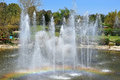 Singing fountain in Utopia Orchid Park, Israel Royalty Free Stock Photo