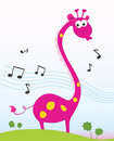 Singing giraffe. Royalty Free Stock Photo