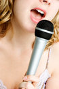 Singing Girl Stock Photo