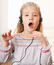 Singing little child Royalty Free Stock Image