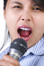 Singing loudly Stock Image