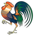 Singing Rooster Royalty Free Stock Photo