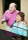 Singing Senior Couple Stock Images