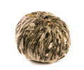 Single ball of aromatic flower green chinese tea isolated on white background Royalty Free Stock Photo