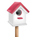 Single birdhouse isolated Stock Image
