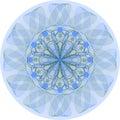 Single blue mandala