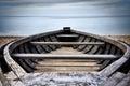 A single boat the baltic sea saulkrasti latvia Stock Photography