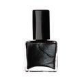 Single bottle of black nail varnish polish isolated on white bac Royalty Free Stock Photo
