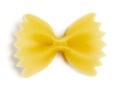 Single bow tie pasta Royalty Free Stock Photo