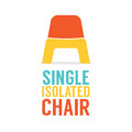 Single Colorful Plastic Chair On White Background