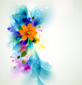 Single flower tender background with abstract Royalty Free Stock Photos